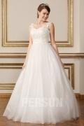 Modisch Ivory A-Linie Ärmellos Brautkleider aus Tüll