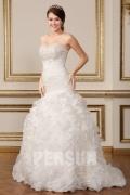 Sweetheart Ivory Meerjungfrau Tiefe Taille Brautkleider aus Tüll