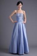 Elegantes Lila Herz Ausschnitt Empire Perle Abendkleid aus Taft