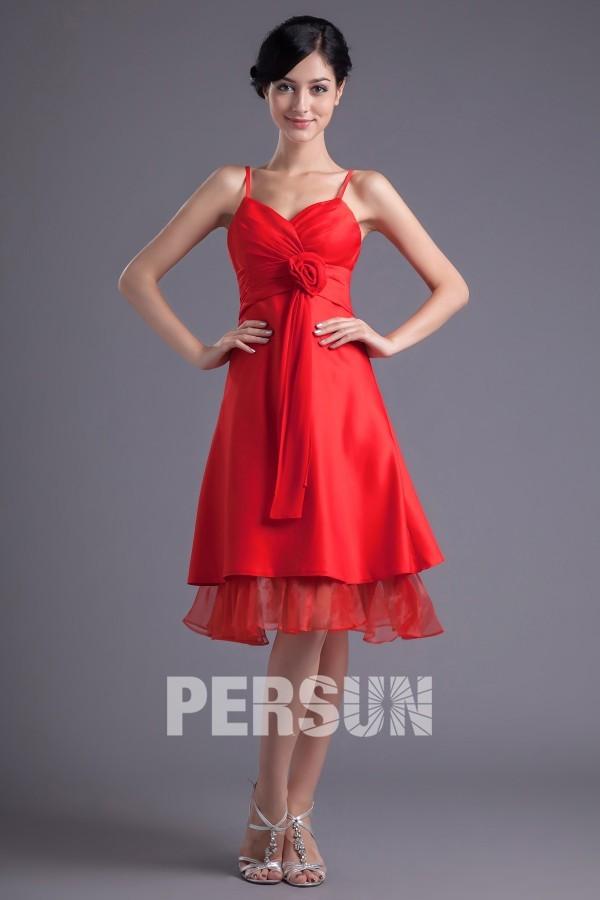 achat petite robe rouge pas cher bretelle spaghetti