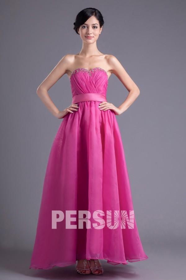 achat robe se soirée longue sans bretelle bon prix
