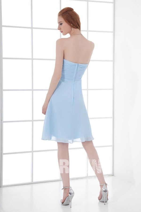 Robe habillée empire courte en mousseline bustier cœur