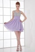 Sexy Rückenfrei A-Linie Sweetheart lila Empire Abendkleider