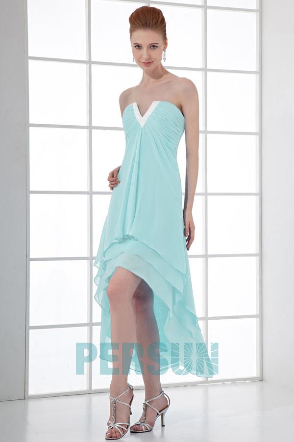 robe fêete rose courte en mousseline polyster