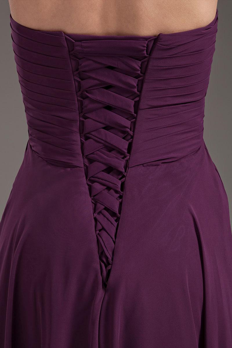 robe demoiselle d'honneur longue empire plissé