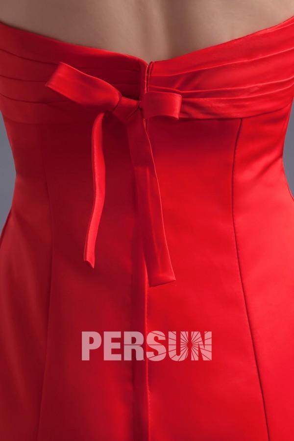 Robe cocktail bustier courte aux genoux pour demoiselle d'honneur