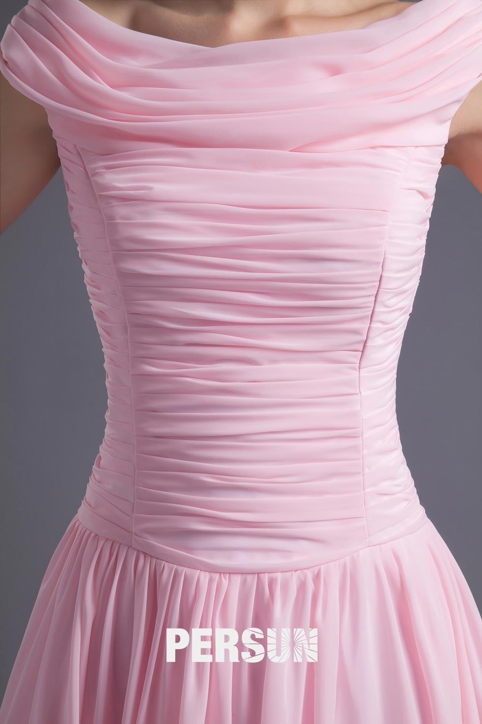 robe de cocktail rose avec plis fait-main