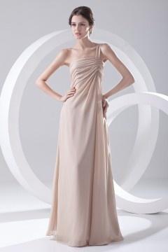Robe demoiselle d'honneur longue asymétrique simple