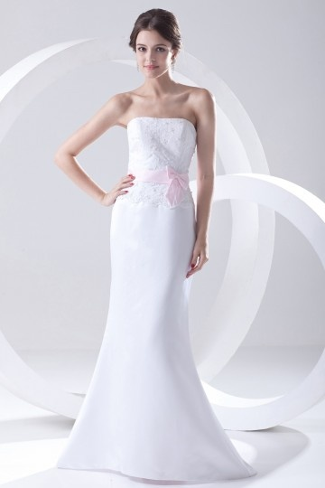 robe de mariée sirène bustier droit en satin