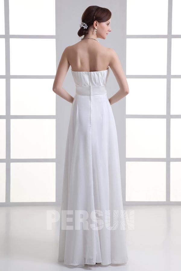 8f6985cfa68 Robe de bal blanche longue simple plissé - JMRouge.fr