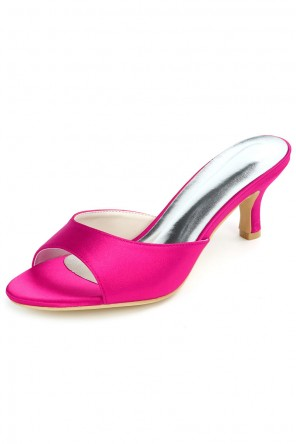 Chic mules femme rose fuchsia simple