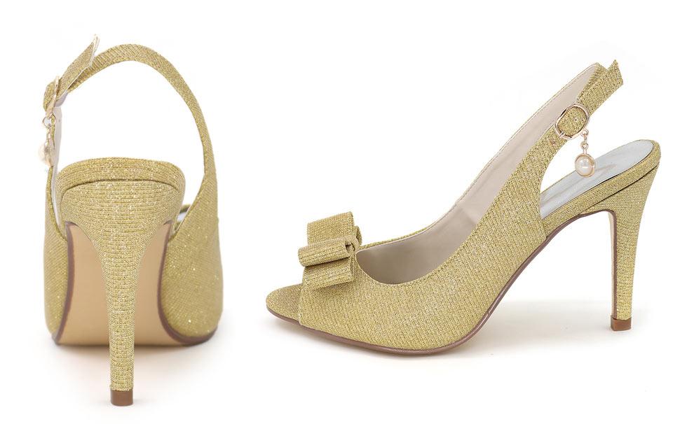 sandales class femme sequin doré