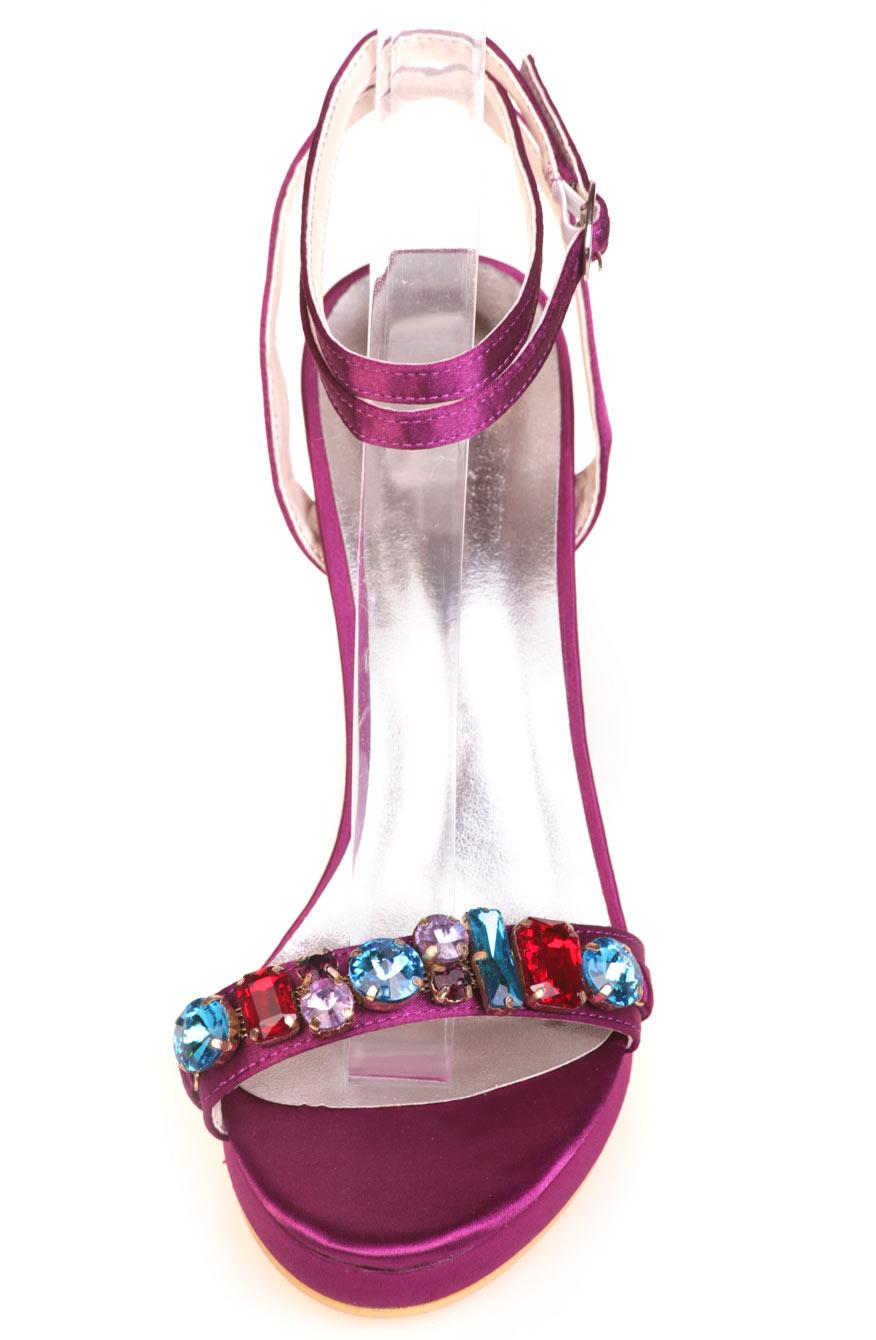 sandale sexy bijoux coloré