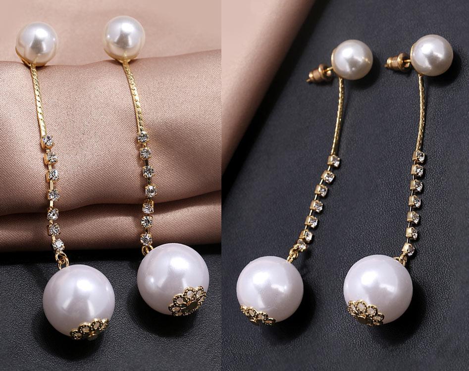 pendants d'oreilles perles pas cher
