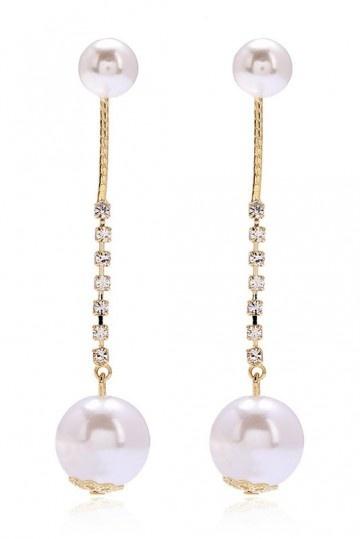 Pendants d'oreilles perles & strass