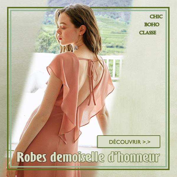 Robe demoiselle d'honneur 2020