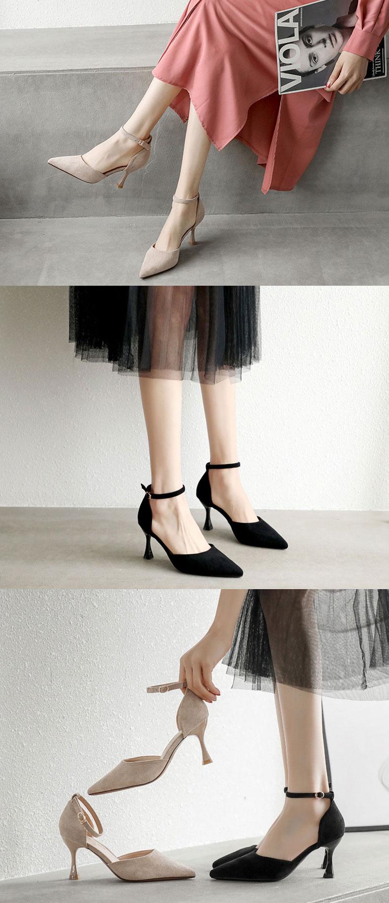 sandale de soirée noire pas cher