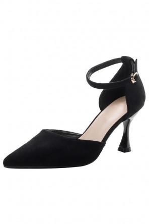Sandales à talons noires chic bout pointu